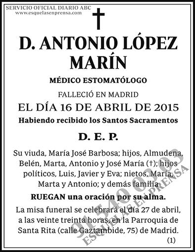 Antonio López Marín